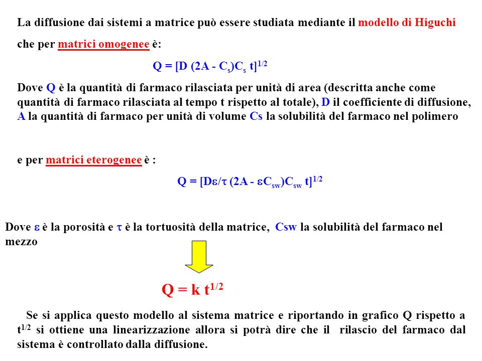Q = [D/ (2A - Csw)Csw t]1/2